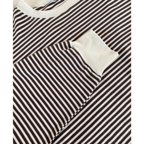 【5月下旬入荷予定】ボーダーロングtシャツ