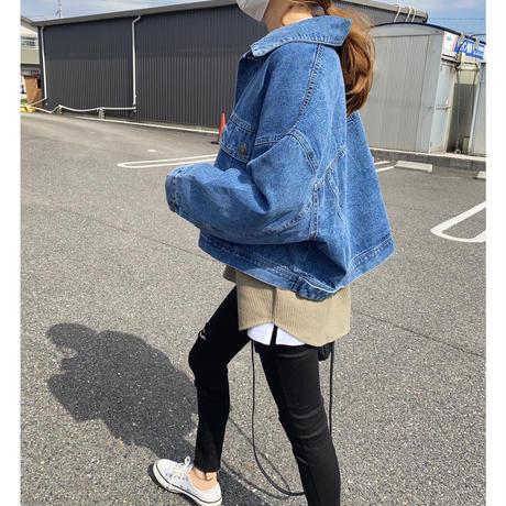 【5月下旬入荷予定】ショートオーバーサイズデニムジャケット