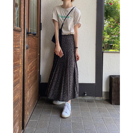 小花柄レトロデザインスカート