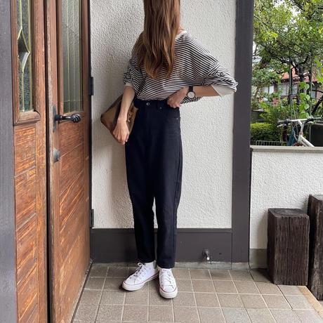【10月上旬入荷予定】ボーダーロングtシャツ