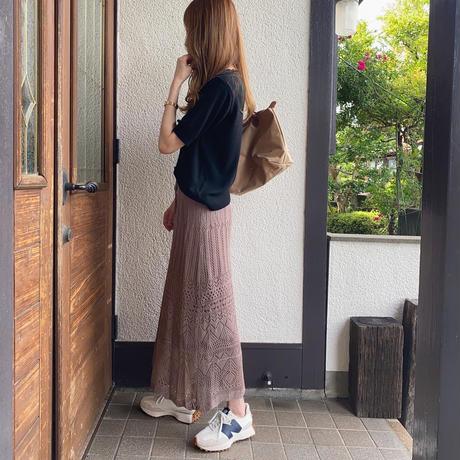 【7月上旬入荷予定】シンプルサマーニット