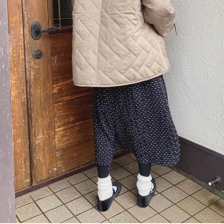 ドット柄シンプルプリーツスカート