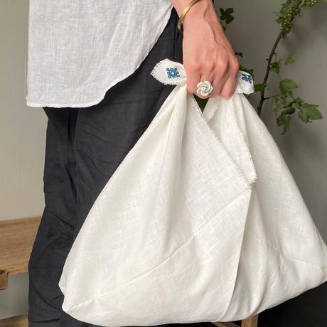 whitetree × maplebuckets   / こぎん刺しホワイトリネンあずま袋