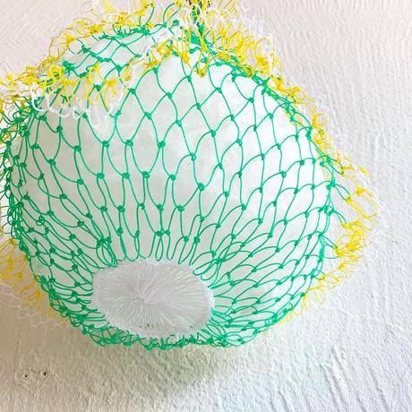 ネットバッグ[ green × yellow]