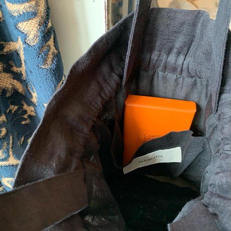 ストライプ巾着バッグ