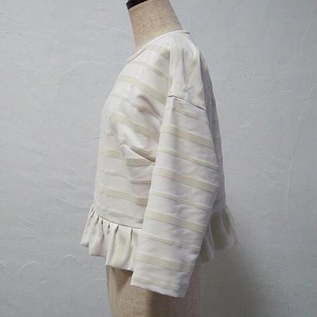 la reine Reinette フロッキーボーダー裾フリルプルオーバー