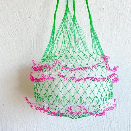 ネットバッグ[ green × pink ]