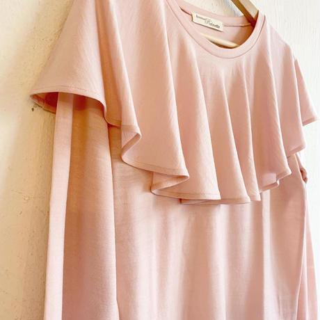 ラッフルフリルニット[antique pink]
