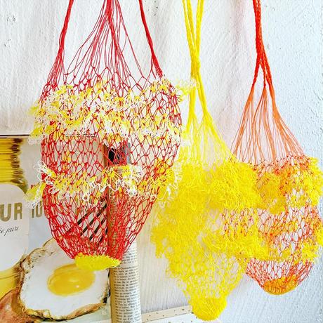 ネットバッグ[ orange × yellow ]