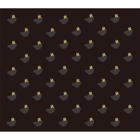 「ネコのパターン グレー&ブラック」画像素材 プリント素材 商用可 デジタルアート 猫リボン 模様 パターン