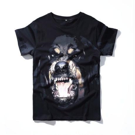 再入荷★ジバンシィ tシャツ 犬 ブラック 人気 男女兼用 メンズファッション