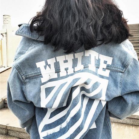 2017新作 オフホワイト/Off-White 新品 秋作 デニムTシャツ 長デザイン 男女兼用