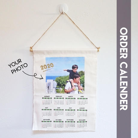 お好きな写真で!オーダー布カレンダー 約26cm×30cm