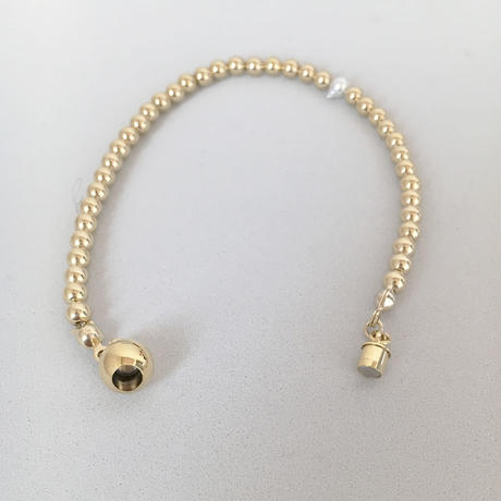HORN AKOYA PEARL AND METAL BEADS 【bracelet】
