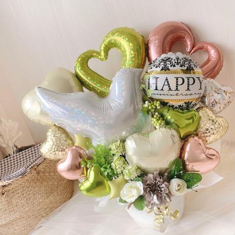 natural green white bird arrangement♡結婚式★開店祝い★様々なお祝い・記念日に♪