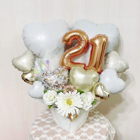 2文字選べる★ハートアレンジ♥お誕生日や周年祝い♥アイドルへの贈り物に♥