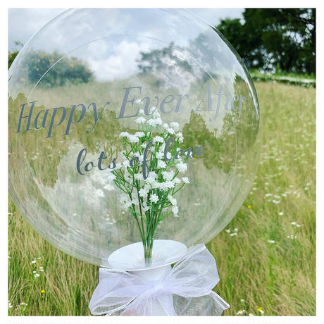 Bubble bouquet balloon   𓂃  Baby's breath arrangement 𓂃