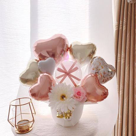 Pink & White gold♡ふんわりエレガントアレンジメント♡様々なお祝いに♡