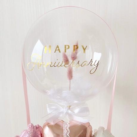 Bubble balloon𓂃ふわふわラグラス&フェザー BOXギフトアレンジ♡