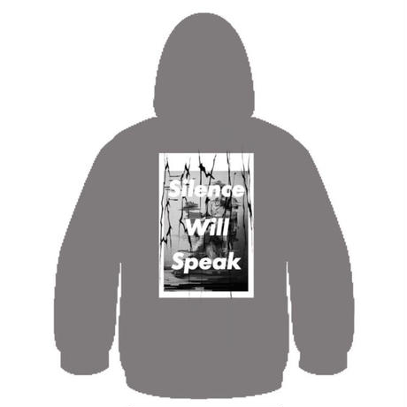 Silence Will Speak パーカー (gray)