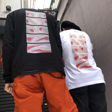 GEZAN//「狂」 ロンT(White/Black)