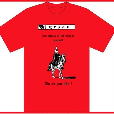 GEZAN//like a HORSE T-shirt(White/Red)