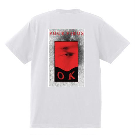 GEZAN//FUCK VIRUS T-shirts(White/Black)