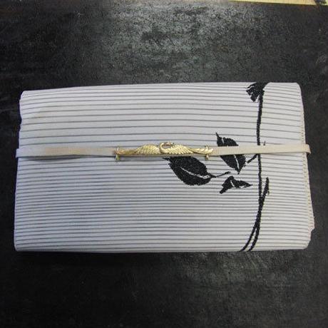 真鍮製 鶴(つる)型帯留め 着物や浴衣に