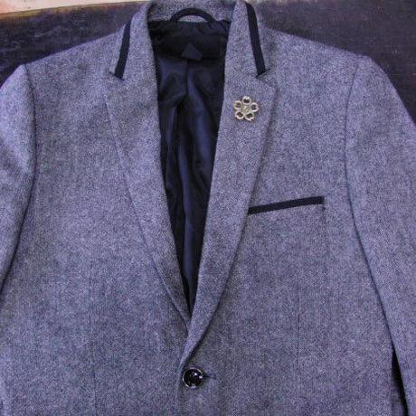 真鍮製 桜型ピンズブローチ ジャケットやハットの飾りに