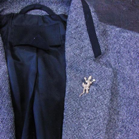 真鍮製ミニトカゲ型ピンズブローチ ジャケットやハットの飾りに