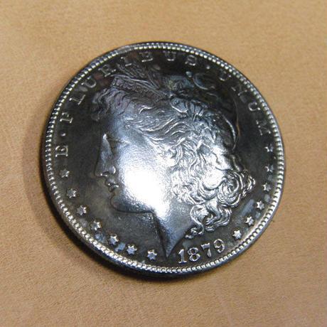 モルガンダラーデザインコインコンチョ1個 (本物ではない)ホック・ネジ・ループオーダー可