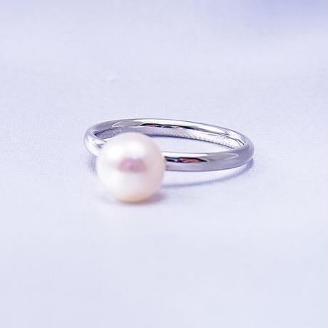 Pt900 あこや真珠の指輪