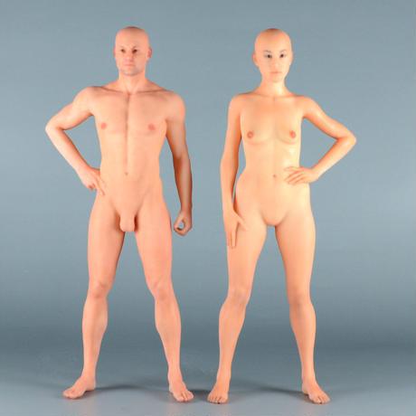 """【9"""" 】立ちポーズ 全裸人体模型 22.9 cm"""
