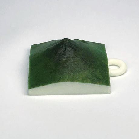 99.「開聞岳」 日本百名山コレクション 【国土地理院3Dデータ使用】3Dプリント 3x3cm