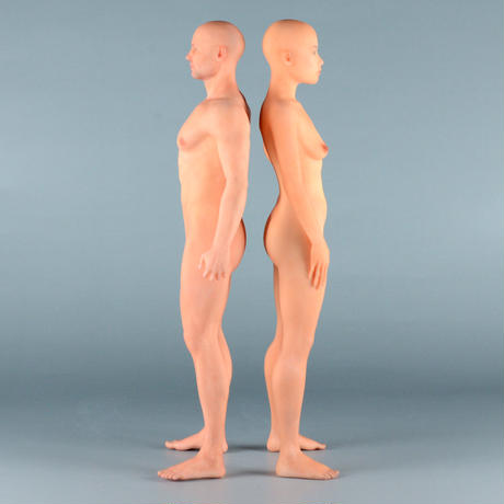 """【7"""" 】立ちポーズ 全裸人体模型 17.8 cm"""