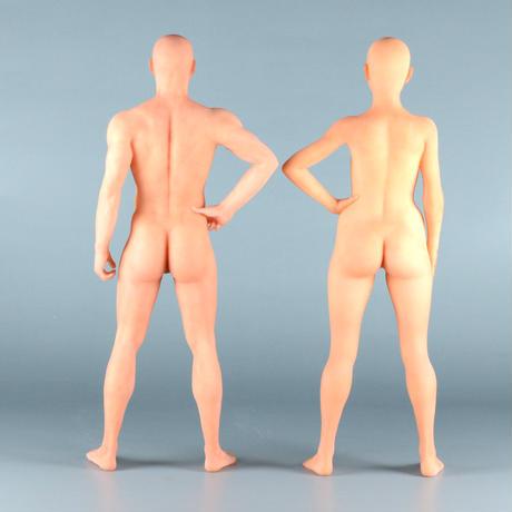 """【5"""" 】立ちポーズ 全裸人体模型 12.7cm"""