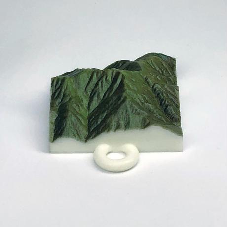 88.「荒島岳」 日本百名山コレクション 【国土地理院3Dデータ使用】3Dプリント 3x3cm
