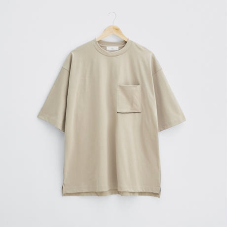 Cotton big T-shirt  (Beige)