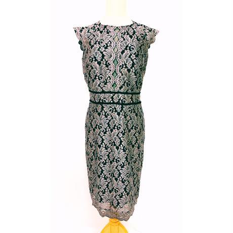 シャイニーラメ入りオールレースドレス