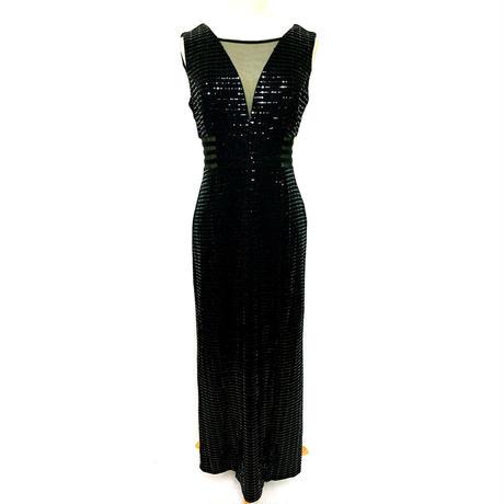 オールメタリックロングドレス