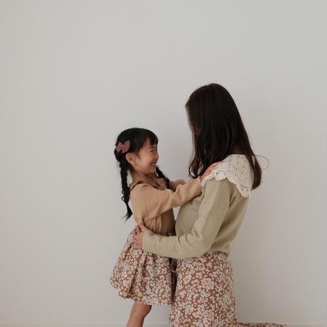 ladies * Wrap skirt / camel flower