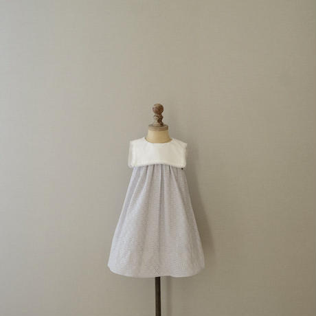 ×K du ciel Sailor dress  / air blue lace