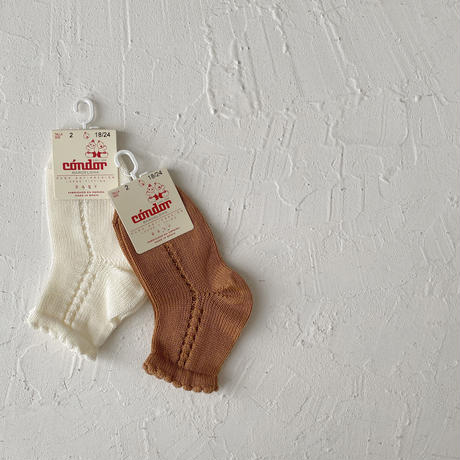 condor / Perle side openwork short socks  ( size : 0-2 )