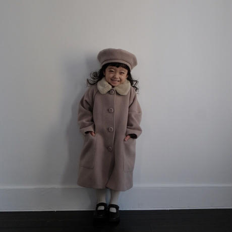 Wool coat / milk tea