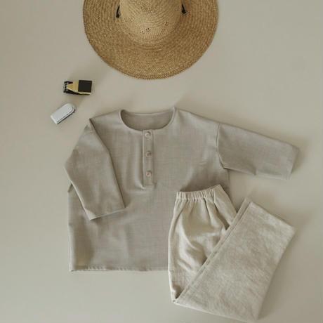kids Henley pullover  / oatmeal