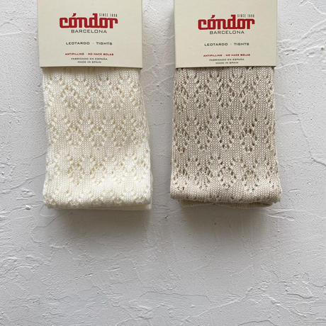 condor /  Perle geometric openwork tights ( size : 1-2 )