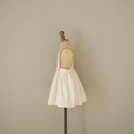 Suspender skirt / white denim
