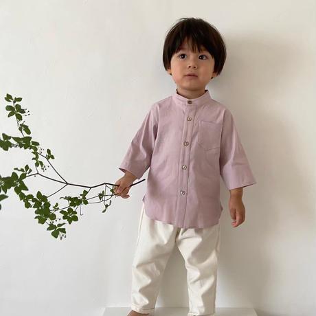 Stand collar shirt  / lavender<09-10>