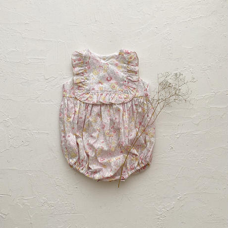 square frill rompers / Betsy (baby pink) 75size