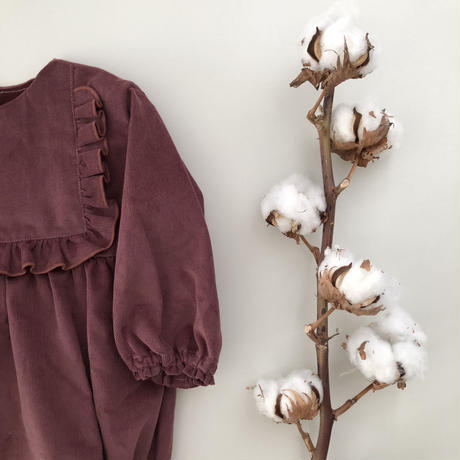 Outlet / square frill rompers (fig)